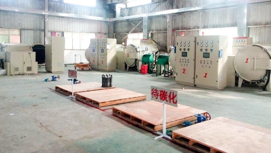 工厂用于生产硬毡的大型高温碳化炉解决方案