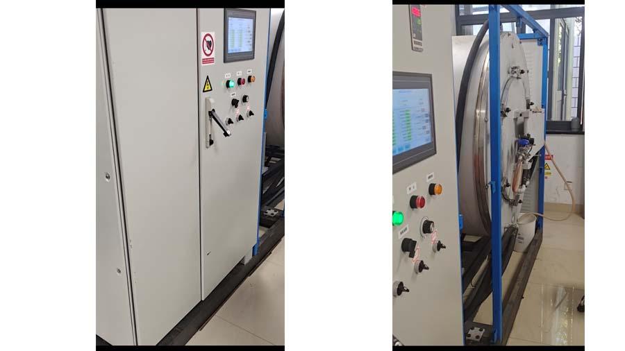 燃料电池用碳纸碳布的碳化石墨化一体化实验炉
